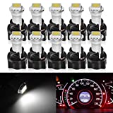 mitsubishi 3000gt speedometer - Partsam 10x White PC74 Twist Socket T5 Wedge 37 70 1-SMD 5050 LED Dashboard Instrument Cluster Light