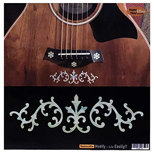 (Stevie Ray Vaughan SRV Vine (White Pearl) Inlay Sticker Decals for Guitar & Bass)
