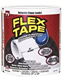 STRONG RUBBERIZED WATERPROOF Flex Tape White 4 x 5' Roll - Patch, Bond, Seal And Repair Instantly Stops Leaks!