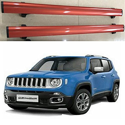 FMtoppeak 2pcs Roof Rails Cross Bar Luggage Rack Crossbar for JEEP Renegade 2015 UP (Red+Black) -  FM-128