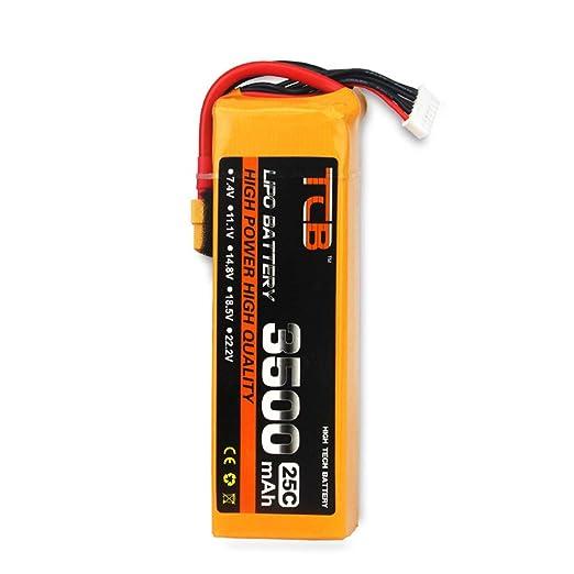 JIJI886 - Batería de Litio TCB 11,1 V, 3500 mAh, 3S 25 C, dron RC ...