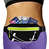 AIKENDO Slim Fanny Pack Running Pouch Belt,Running Waist Bag Pack Jogging Belt for iPhone XR 8 Plus Samsung Note,Workout Running Accessories Phone Holder for Running,Travel Money Belt Men Women