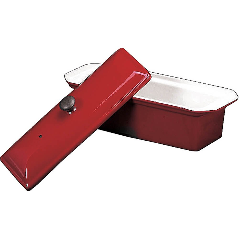 Chasseur Enameled Cast-Iron Pate Terrine Mold, Red by Paderno World Cuisine