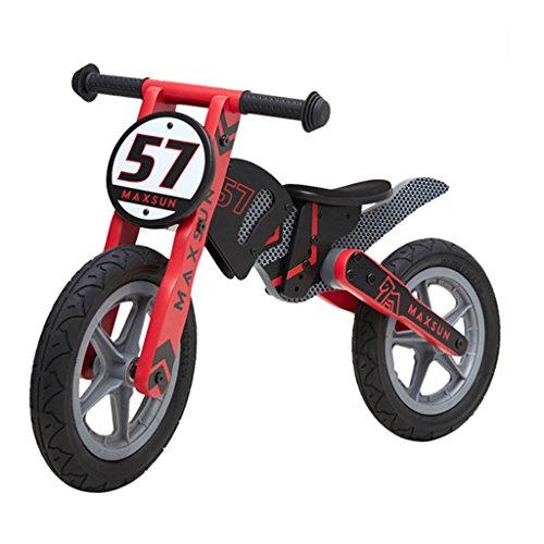 Equilibrado de Bicicletas para niños de Entrenamiento Deportivo Vehículo Deslizante de Madera de Bicicletas Sin Pedales...