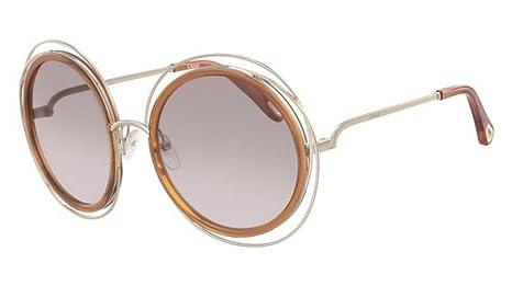 Chloé Gafas de Sol CARLINA CE120SD PALE GOLD AMBER/BROWN ...