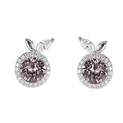 classic fit united kingdom exclusive range Earrings for Woman Pandora 925 Sterling Silver With SWAROVSKI Blue Crystal