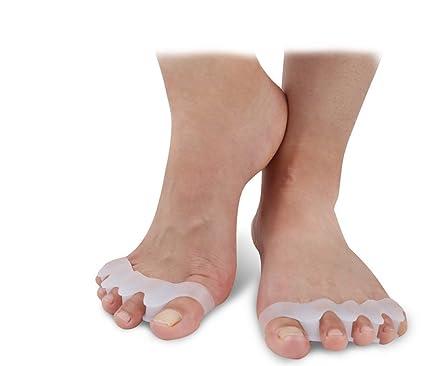 Separación de dedos de los pies correcto Hallux Valgus y lucha. Separador de dedos juanetes