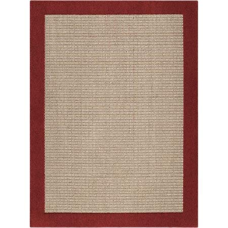 Mainstays Faux Sisal Tufted High Low Loop Area Rug or Runner, 5' x 7' (5' x 7', Cranberry) ()