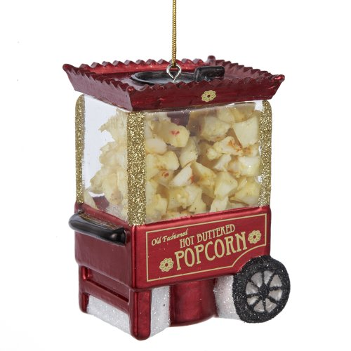 Noble Gems Popcorn Machine Ornament, 3.25-Inch by Noble Gems
