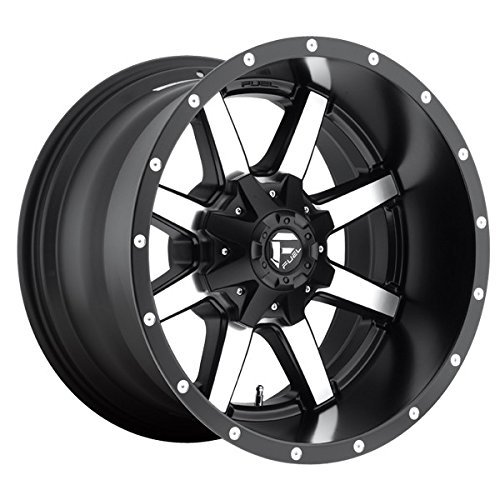 Fuel Maverick 20 Machined Black Wheel / Rim 8x6.5 with a -44mm Offset and a 125.2 Hub Bore. Partnumber D53720208247