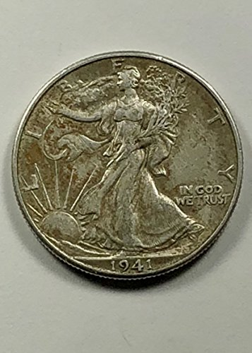 1941 D Walking Liberty Half Dollar .50 (Silver Three Cent Piece Good)