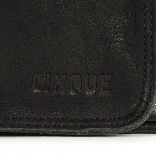 CINQUE Tommaso - Kuriertasche in schwarz