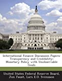International Finance Discussion Papers, Jon Faust, 1288733763