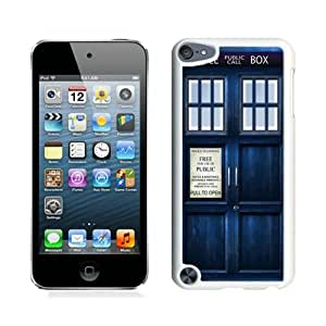 Hot Sell Design Tardis Doctor Who White Customized iPod Touch 5 Phone Case
