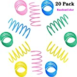 Cat Springs Toys, Colorful Coil Spring Action Cat Toy High Elasticity, Stretchable Jumping Cat Toy (20Pcs, Random Color)