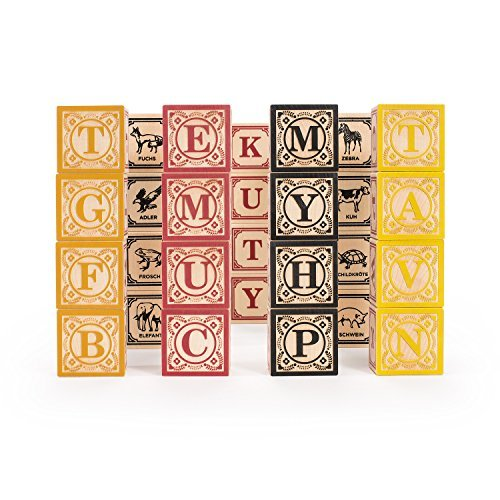 Uncle Goose German ABC Blocks - Made in USA by Uncle Goose
