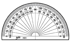 how to draw a 50 degree angle with a protractor