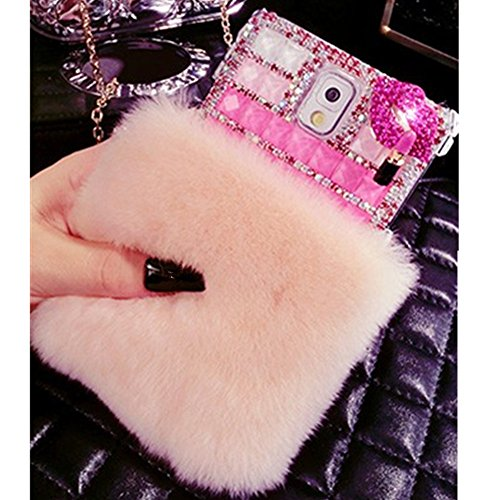 EVTECH(TM) for Samsung Galaxy Note Edge N9510 3D Handmade Fashion Crystal Rhinestone Bling Case Cover Hard Case Clear(100% Handcrafted)