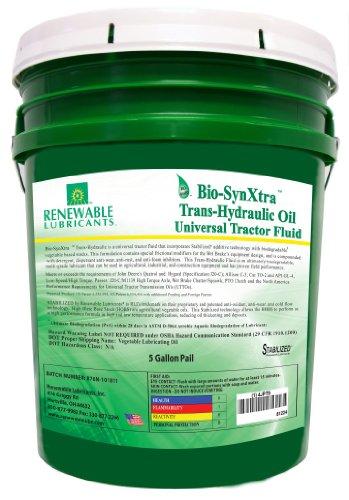 Renewable Lubricants Bio-SynXtra Trans-Hydraulic Universal Tractor Fluid, 5 Gallon Pail by Renewable Lubricants