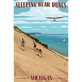 Michigan - Sleeping Bear Dunes (12x18 Art Print, Wall Decor Travel Poster)