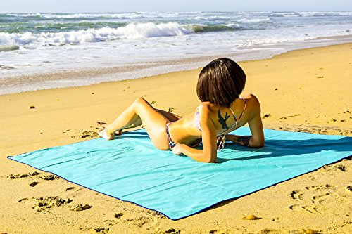 Microfiber Beach Blanket Pockets Carrying