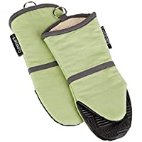 Cuisinart Puppet Oven Mitt with Silicone Grip, 2-Pack Sage
