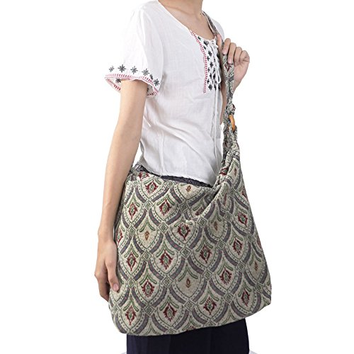 Hippie Shape Handbag Bohemian Body amp; Ivory Cross Rita Risa Rectangle Women's qIPFPg