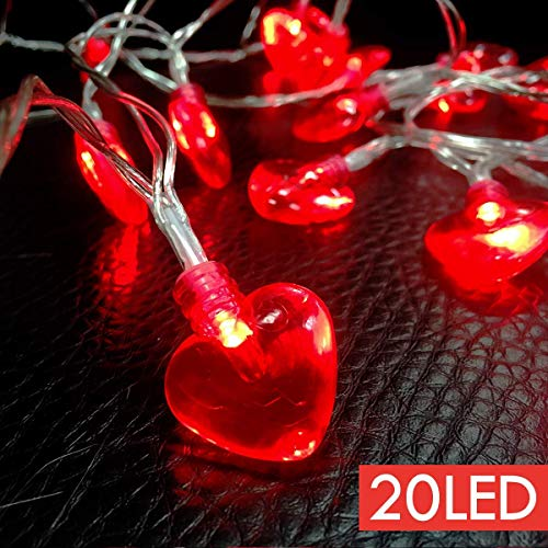 8.2FT Valentine's Day String Light Heart Shaped Party Decorations Battery Operated for Mother's and Father's Day, Wedding Anniversary , Birthday, Holidays and Valentines Day Party Favors Supplies