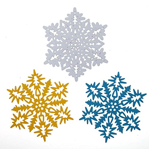 2019 Ethereal Snowflake Die Cutting Dies Handmade Stencils Template Embossing for Card Scrapbooking Craft Paper Decor by E-Scenery (F)]()