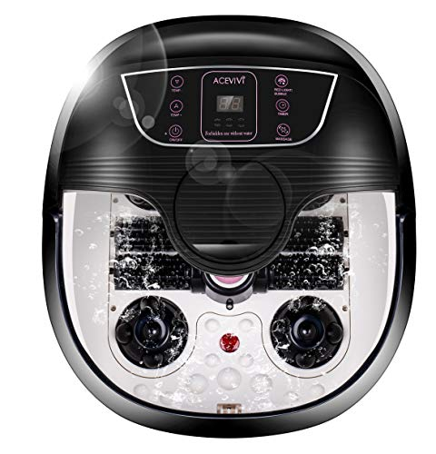 ACEVIVI Foot Spa Bath Massager with Heat and Massage and Bubble Jets,...