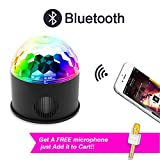NEQUARE Party Lights with Bluetooth Speaker, Disco Ball Strobe Lights with USB, 9 Colors and 4 Modes, DJ Lights for with Remote Control for Bar Club Party DJ Karaoke Xmas Wedding Show and Outdoor