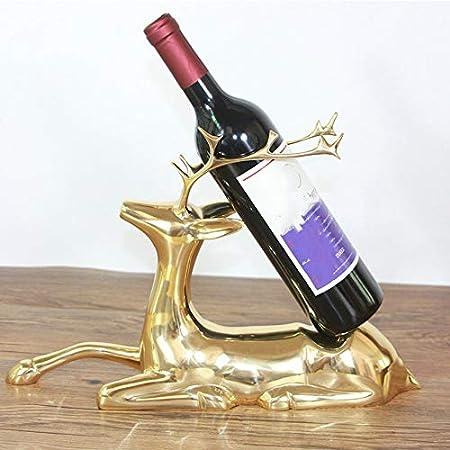 DC Wesley Estantería Minimalista Moderno Inicio Artesanía Decoración Ciervos Vinoteca Vino Estante De Vino De Cobre Modelo De Ciervos Casa Hotel Hotel Club Decoraciones