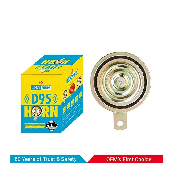 UNO MINDA 840132 K95 12V HIGH Tone Horn(335/440 Hz, 108dB, 95mm Dia)