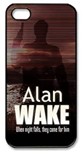 """icasepersonalized Personalized Protective Case for iPhone 5 - Game Alan Wake """"When night falls, they come for him"""""""