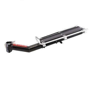 Cablematic - Portaequipajes metálico trasero bicicleta fijación tubo con guardabarros 30x12cm