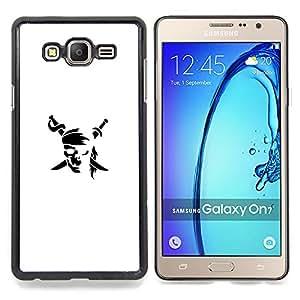 - Minimalist Pirate Flag - - Cubierta del caso de impacto con el patr??n Art Designs FOR Samsung Galaxy On7 G6000 Queen Pattern
