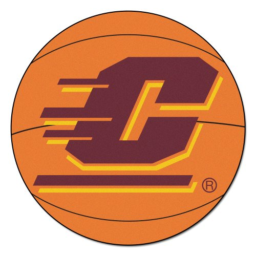 NCAA Central Michigan University Chippewas Basketball Shaped Mat Area Rug - Michigan University Basketball Rug