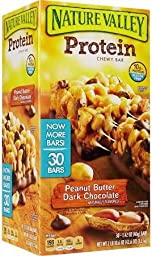 Nature Valley Protein Chewy Bars, Peanut Butter Dark Chocolate 30ct 1.42oz each