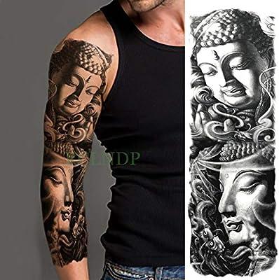 3 Piezas Impermeables temporales Tatuaje Etiqueta Tribal Totem Old ...