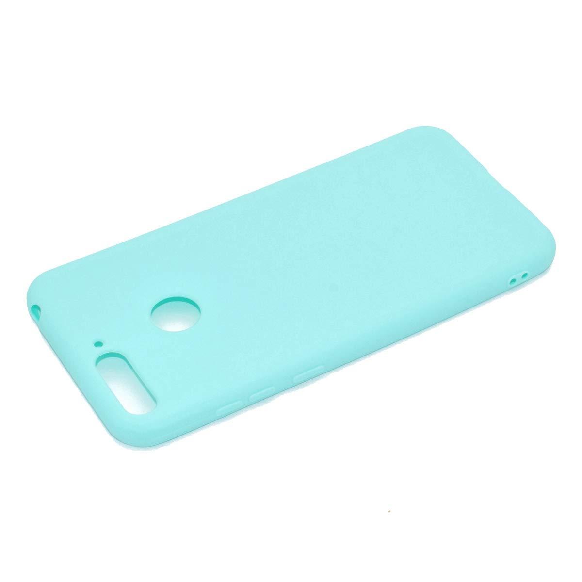 Coque en Silicone pour Huawei Y5 2018 Rose Misstars Ultra Mince Souple TPU Gel Mat Bumper Doux L/éger Anti Rayure Antichoc Housse /Étui de Protection pour Huawei Y5 2018 // Honor 7S Bleu Jaune