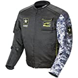 Joe Rocket U.S. Army Alpha Men's Motorcycle Riding Jacket (Black/Gray Camo, Large)