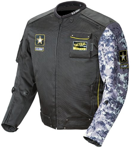 (Joe Rocket U.S. Army Alpha Men's Motorcycle Riding Jacket (Black/Gray Camo, X-Large))