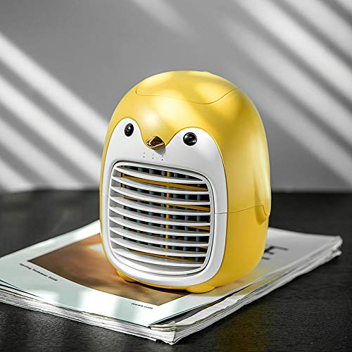 Penguin Shape air Cooler, Indoor Air Humidifier with 200mL Water Tank ,Quiet USB Air Cooler with 3-Speed Water Cooling Fan air Cooler Office Desktop Home Portable Air Conditioner