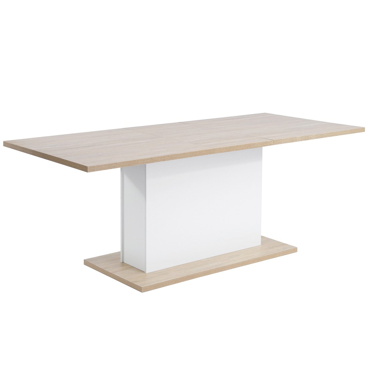 Extendable Rectangular Dining Table, Mltifunction Space Saving Wood Table (Extendable Beech Table) by HOMY CASA (Image #1)