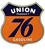 Union 76 Gasoline Gas Station Vintage Logo'd Full Color Window Decal Sticker