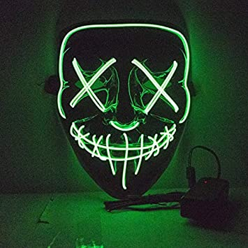 Amazon.com: KOSUKA Halloween mask - Halloween LED Mask Purge ...
