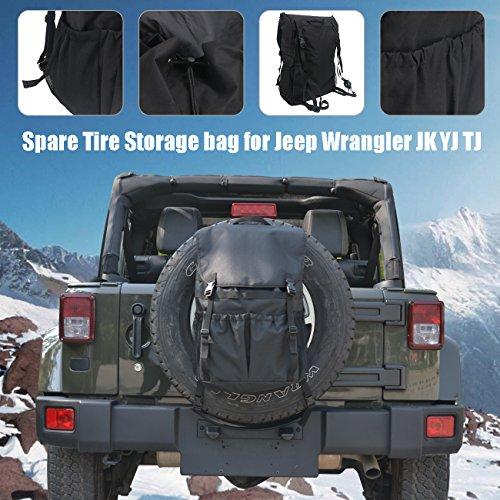 For Jeep Wrangler JK YJ TJ, Storage bag Backpack Organiser Foldable Boot Organizer Box for Spare Tire 30