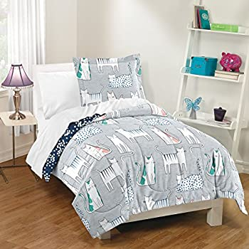 Amazon Com Comforter Set Single Twin Full Size Cats Theme