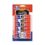 Elmer's All Purpose School Glue Sticks, Washable, 6 Gram, 8 Count (E5004)
