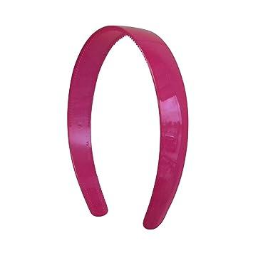 White Navy Hairbands Twelve Headbands 1 Inch Wide Head Band w//Teeth Plastic Red